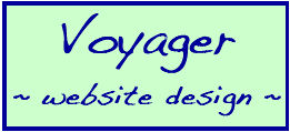 Voyager website design